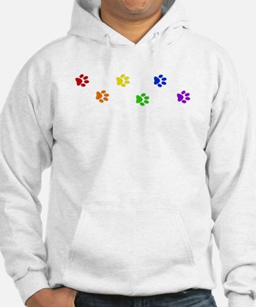 Rainbow paw prints Jumper Hoody