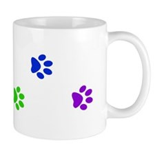 Rainbow paw prints Mug