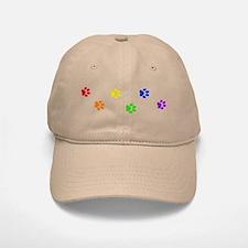 Rainbow paw prints Baseball Baseball Cap