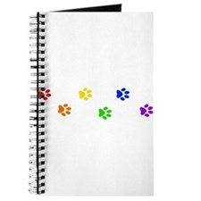 Rainbow paw prints Journal