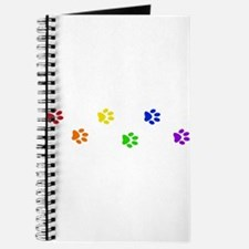 Rainbow paw prints Journal