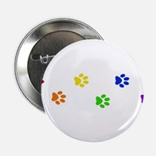 """Rainbow paw prints 2.25"""" Button (10 pack)"""