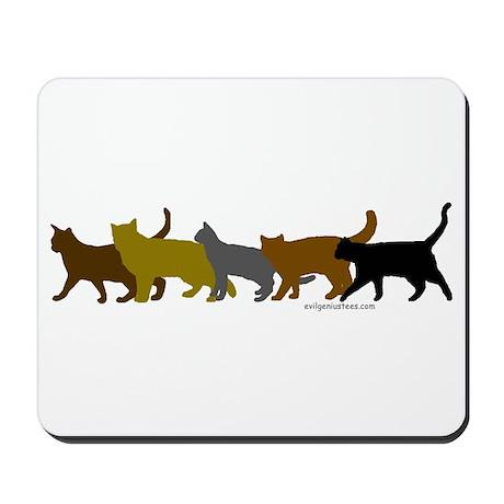 Earthtone cats Mousepad