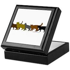 Earthtone cats Keepsake Box