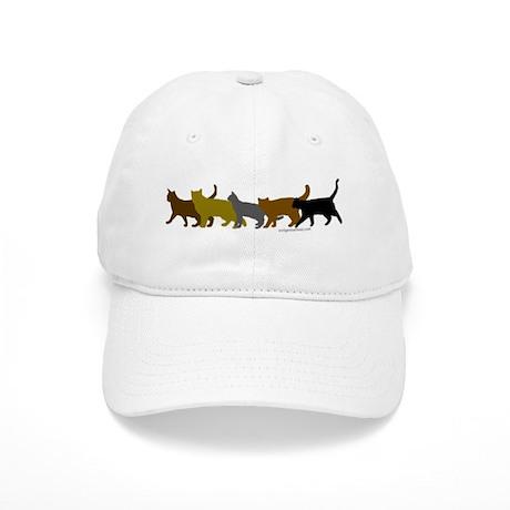 Earthtone cats Cap
