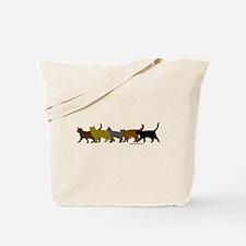 Earthtone cats Tote Bag