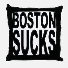 Boston Sucks Throw Pillow