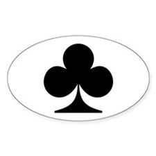 Clubs! Oval Decal