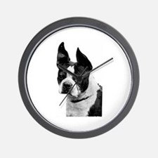 Cute Boston terrier items Wall Clock