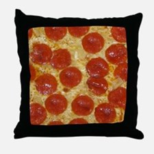 big pepperoni pizza Throw Pillow