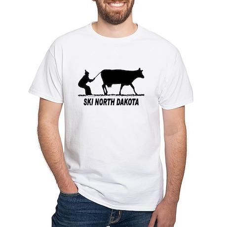 Ski North Dakota White T-Shirt