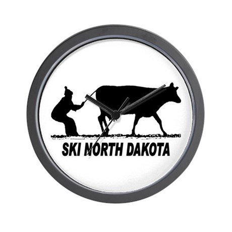 Ski North Dakota Wall Clock