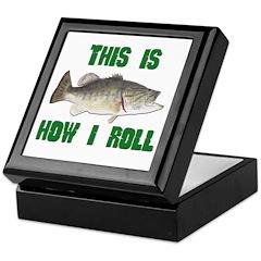 How I Roll Bass Fishing Keepsake Box