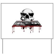 Skull Razorblade Yard Sign