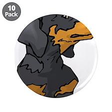 """Cute Dachshund dog 3.5"""" Button (10 pack)"""