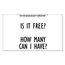 Is it Free? Rectangle Decal