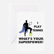 Tennis Superpower Greeting Card