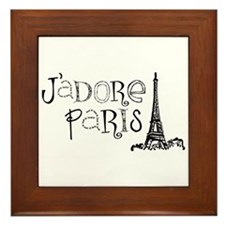 J'adore Paris Framed Tile