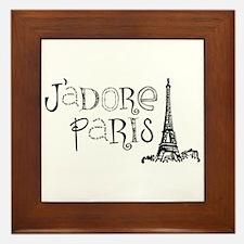 J'adore Paris Framed Tile