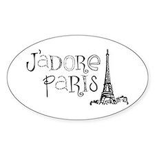 J'adore Paris Oval Decal