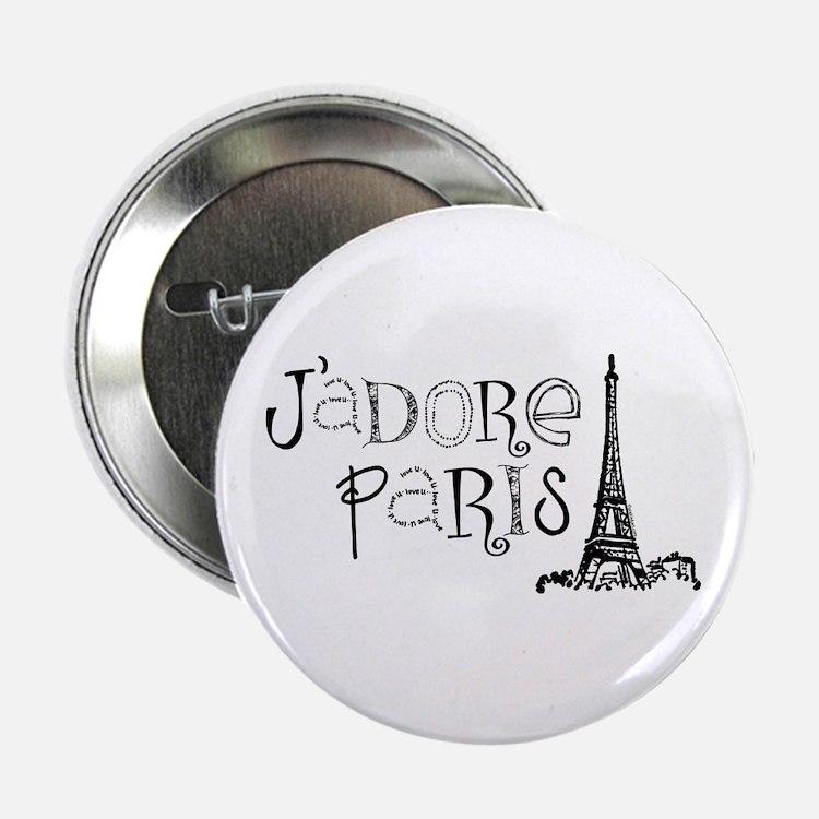 """J'adore Paris 2.25"""" Button"""