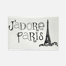 J'adore Paris Rectangle Magnet