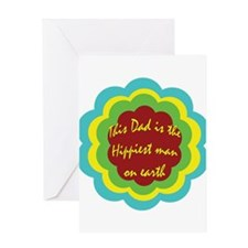 hippie fathers day Greeting Card