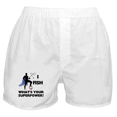 Fishing Superpower Boxer Shorts