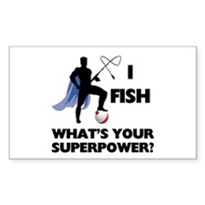 Fishing Superpower Rectangle Sticker