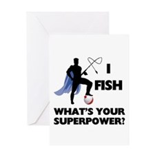 Fishing Superpower Greeting Card