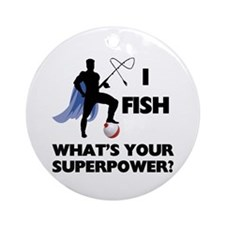 Fishing Superpower Ornament (Round)