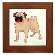Cool Pug dog Framed Tile
