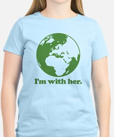 I'm With Her Green T-Shirt