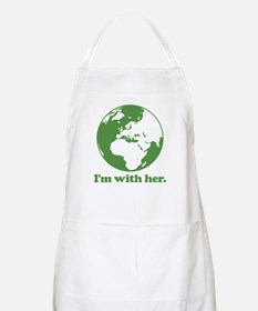 I'm With Her Green Light Apron