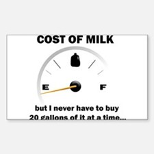 Milk Rectangle Decal