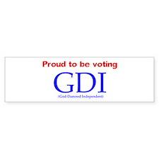Voting GDI Bumper Bumper Sticker