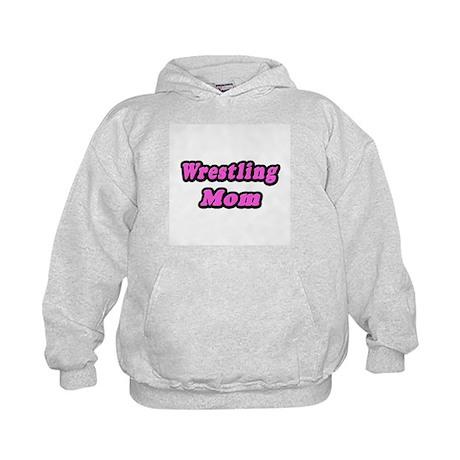 """""""Wrestling Mom (Pink)"""" Kids Hoodie"""