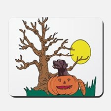 Halloween Pumpkin Lab Mousepad