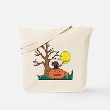 Halloween Pumpkin Lab Tote Bag