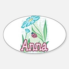 Anna Ladybug Flower Oval Decal