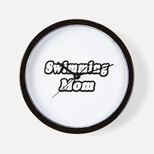 """Swimming Mom"" Wall Clock"