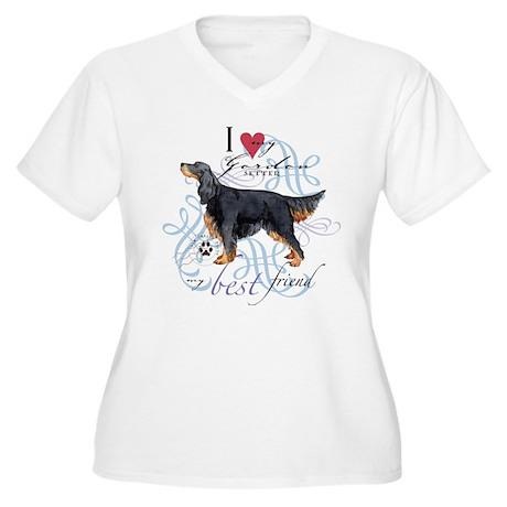 Gordon Setter Women's Plus Size V-Neck T-Shirt