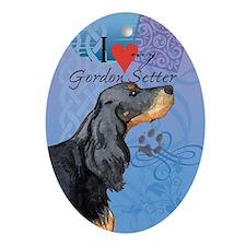 Gordon Setter Oval Ornament