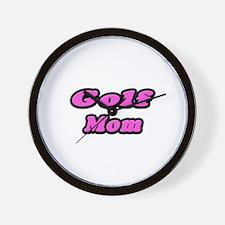 """Golf Mom (Pink)"" Wall Clock"