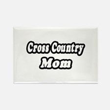 """""""Cross Country Mom"""" Rectangle Magnet (10 pack)"""
