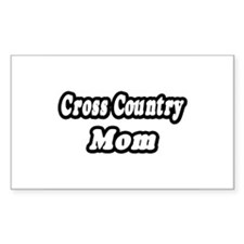 """""""Cross Country Mom"""" Rectangle Decal"""
