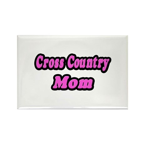 """Cross Country Mom (Pink)"" Rectangle Magnet (10 pa"