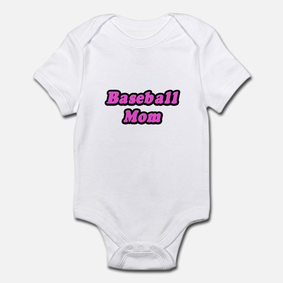 """""""Baseball Mom (Pink)"""" Infant Bodysuit"""