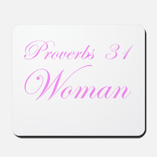 Pink Proverbs 31 Woman Mousepad