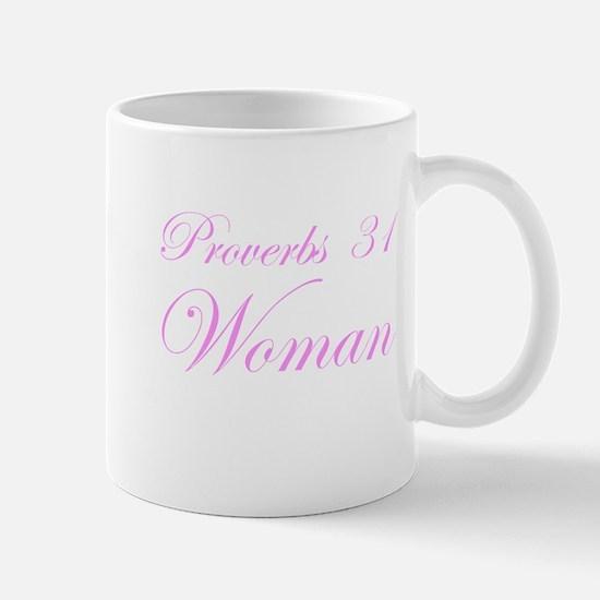 Pink Proverbs 31 Woman Mug